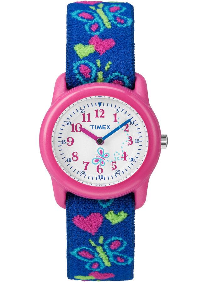 Timex enfant rose bleu papillon