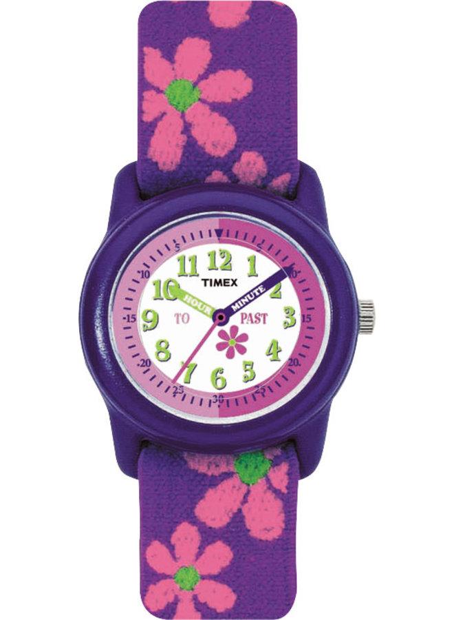 Timex enfant  mauve fleur rose
