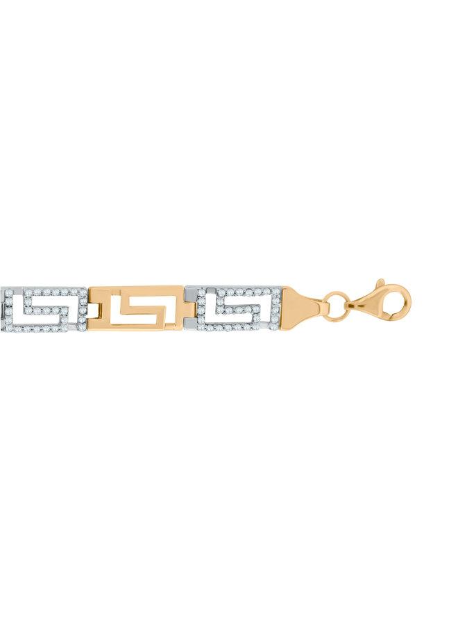Bracelet 10k 7'' versace zircon
