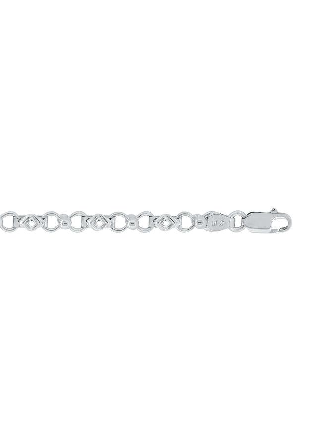 "Bracelet 10k blanc 7.25"""