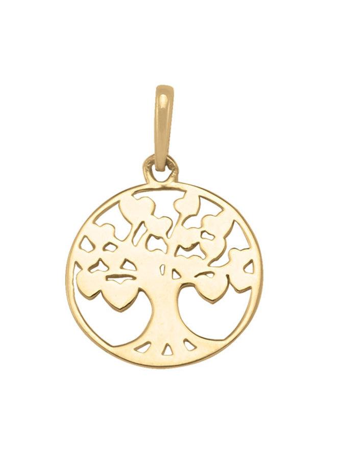 Pendentif 10k arbre de vie uni