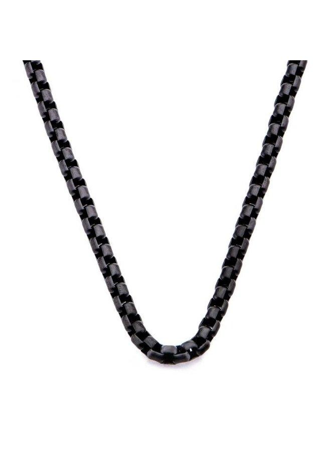 Chaîne acier noir 22'' carré rond
