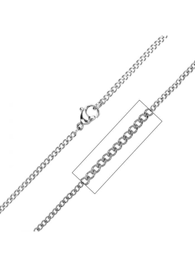 Chaine acier gourmette 16'' 2mm