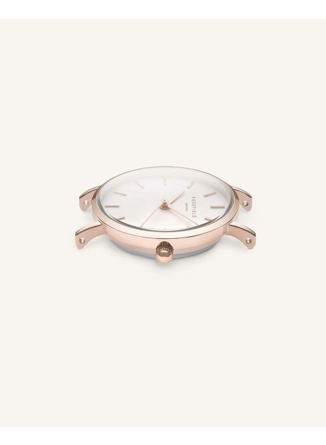 Rosefield rose gold cuir argent