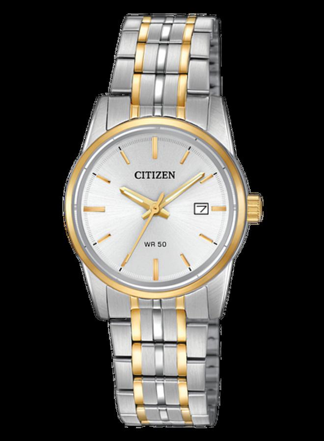 Citizen quartz dame acier 2 tons