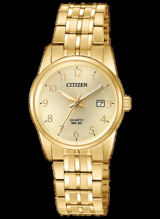 Citizen quartz dame acier doré