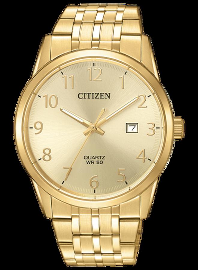 Citizen quartz homme acier doré