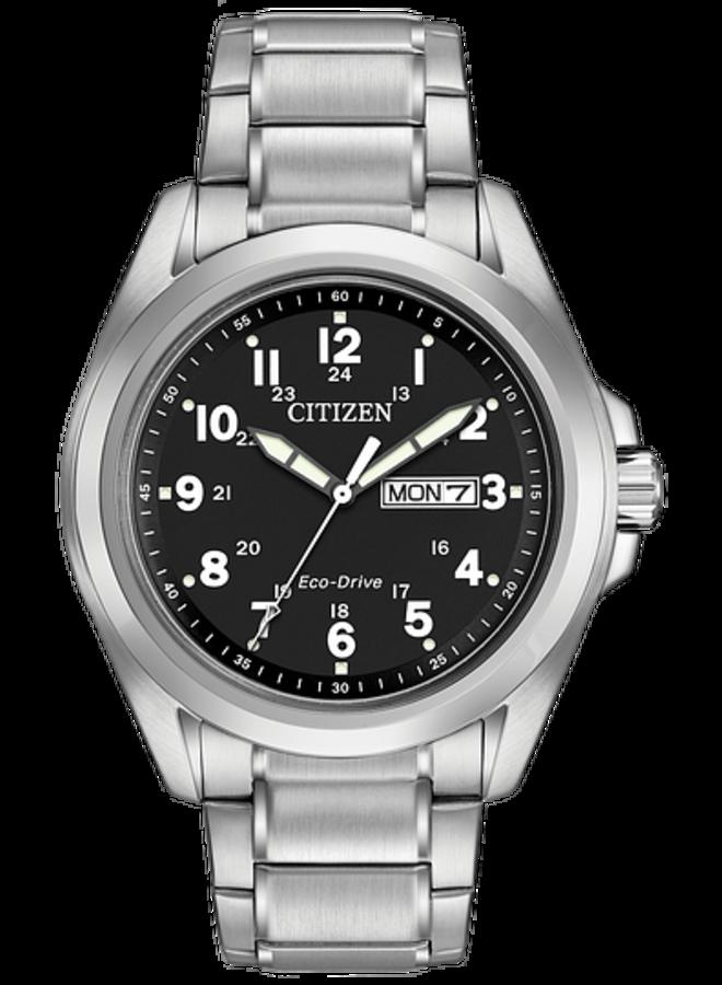 Citizen Eco-drive acier fond noir