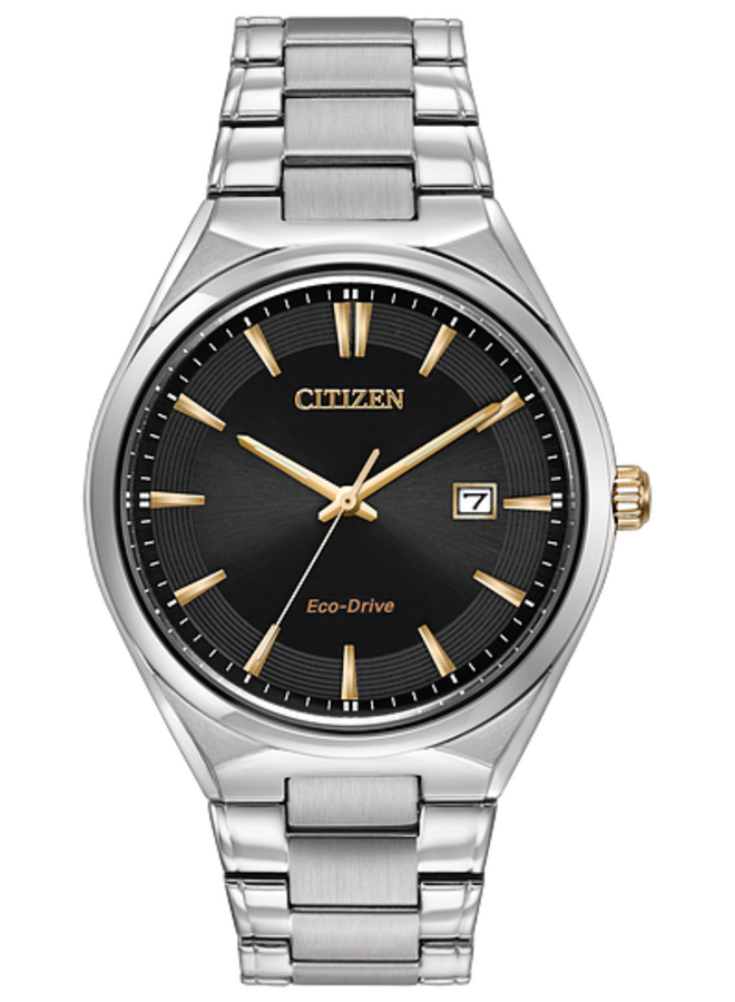 Citizen Eco-Drive round stainless steel case and bracelet