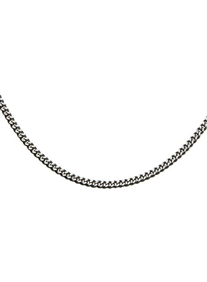 Chaine acier 22'' gourmette 4mm