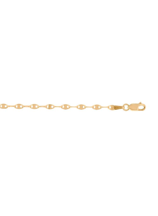 Bracelet 10k jaune 7.5'' style FLP