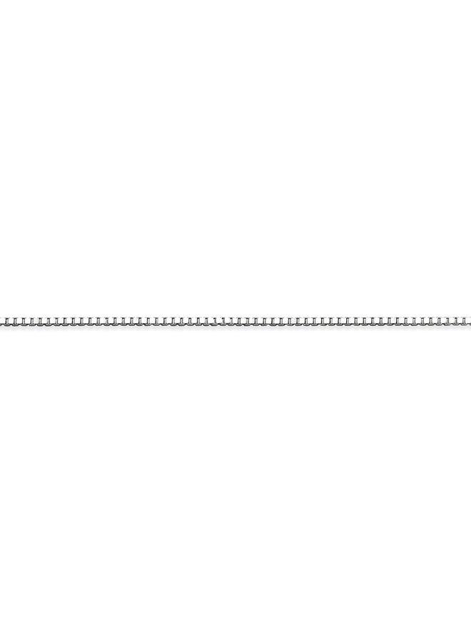 Chaine 10k blanc 14'' carré