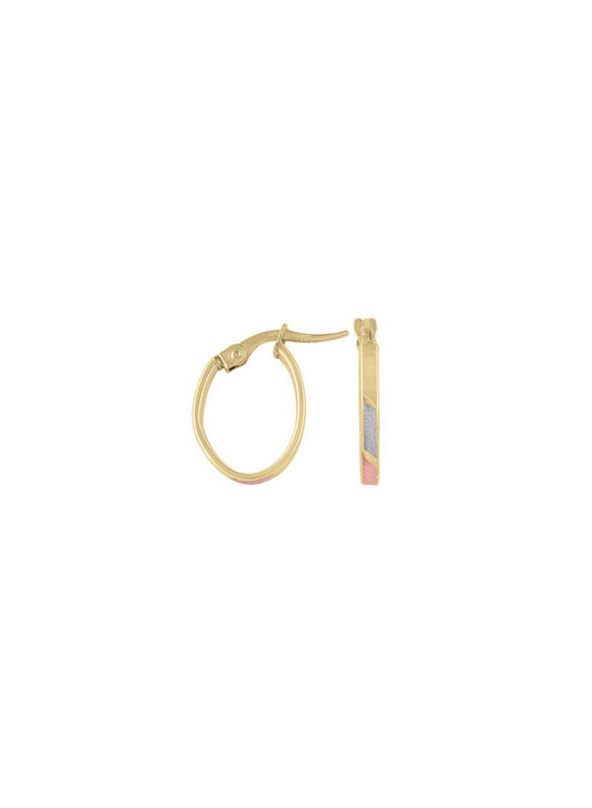 Boucles d'oreilles anneaux 3T 10K