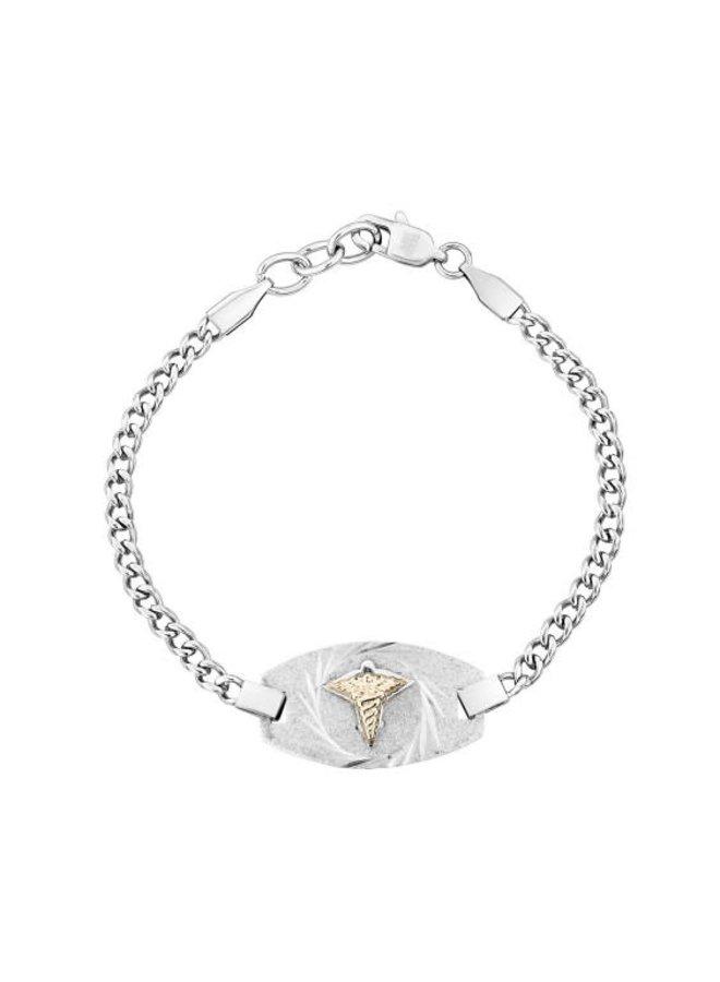 Bracelet médical Arezzo Acier