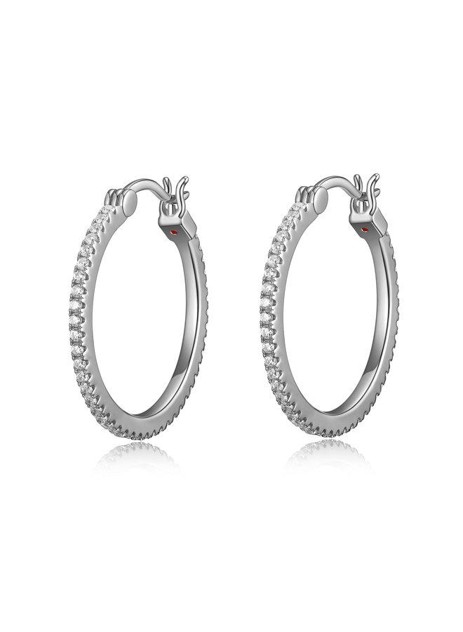 Boucle d'oreille anneau .925 sphere zircon 24mm