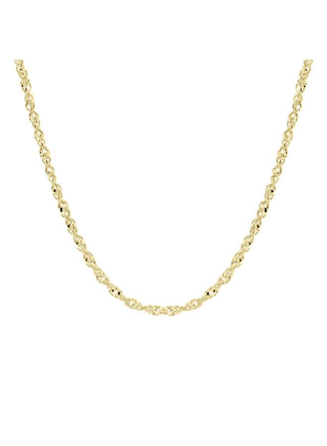 Chaine 10k or jaune 18'' singapour