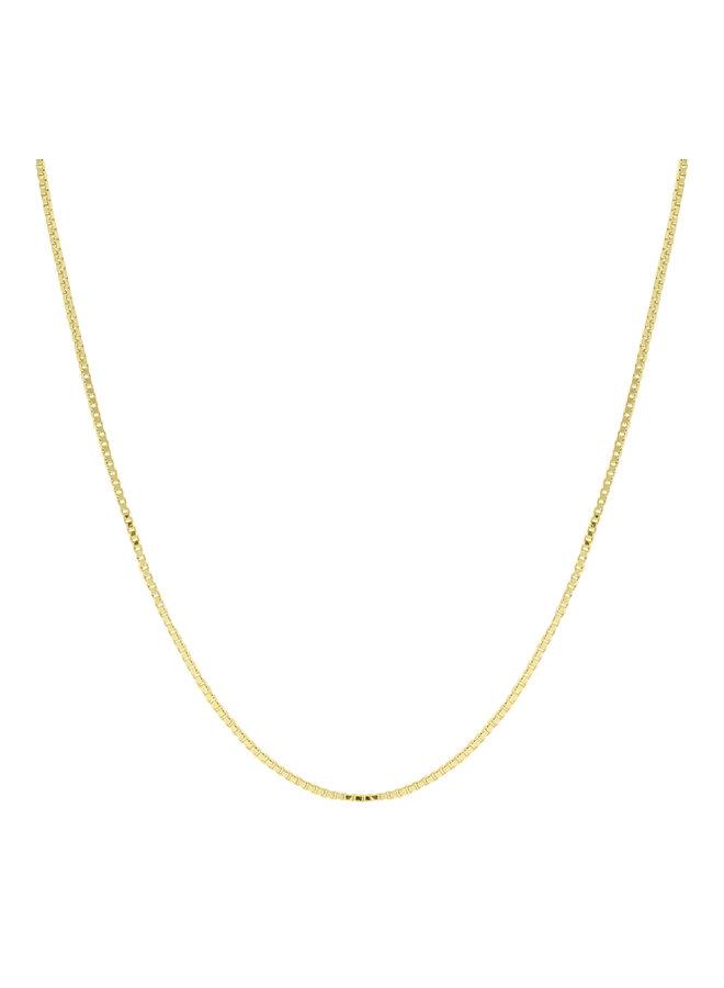 Chaine 10k jaune 18'' carré 0.8mm
