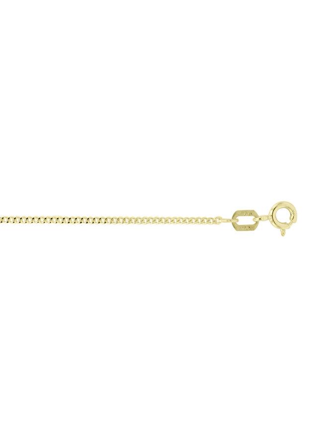 Chaine 10k jaune 14'' gourmette 1.0mm