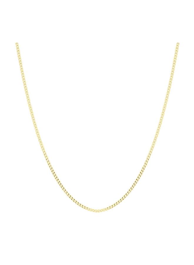 Chaine 10k jaune 16'' gourmette 1.0mm