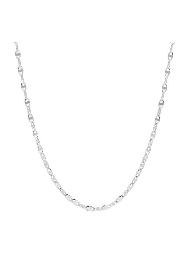 Bracelet  10k blanc 7'' style FLP 50