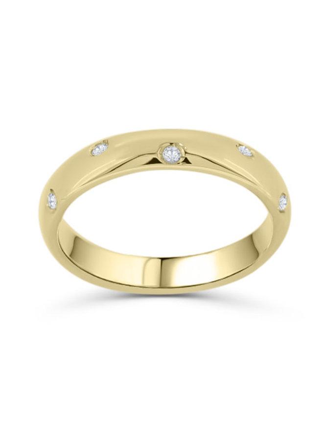 Jonc 14k jaune éternité diamant 12x0.01ct I GH