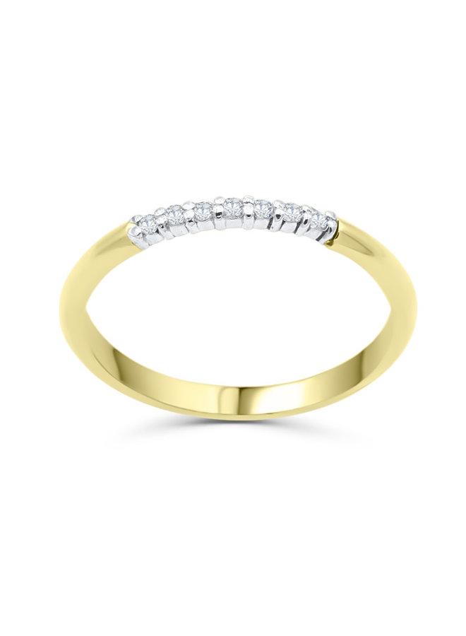 Semi-éternité 10k diamant 7x0.01ct I GH