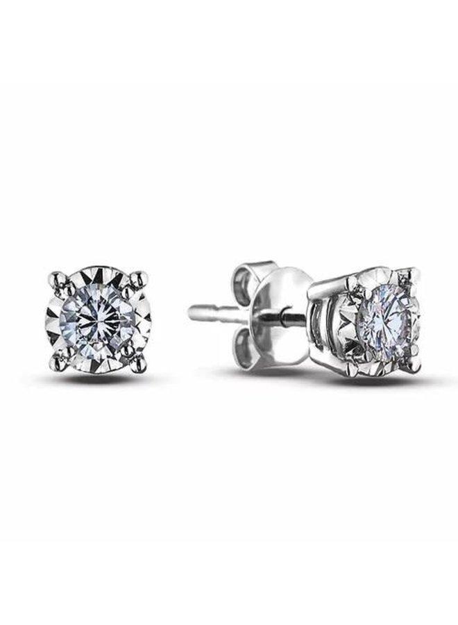 Boucle D'oreille diamant 0.24ct SI3 couleur I