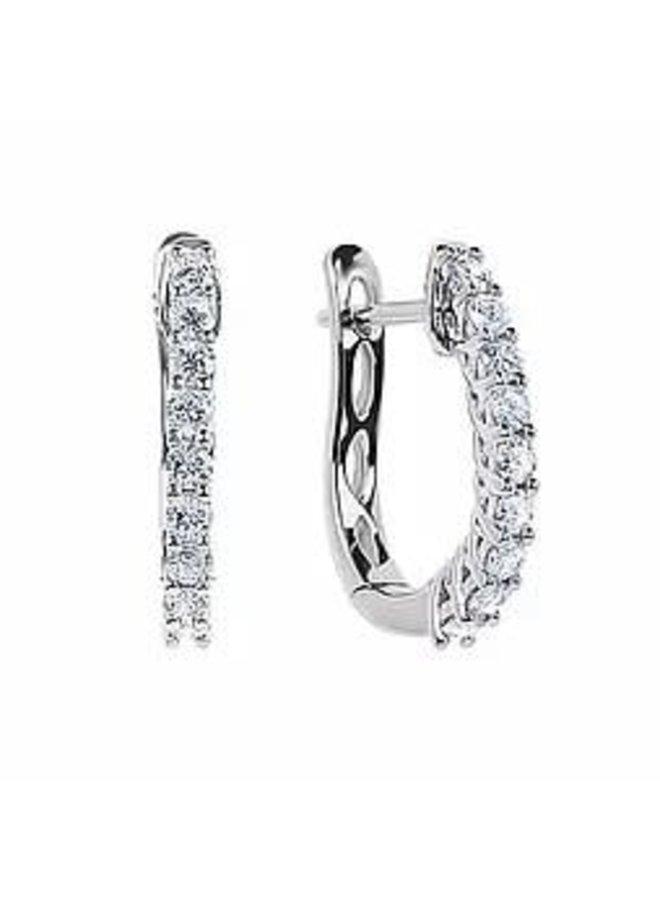 Boucle d'oreille 10k anneau diamant 0.45ct I GH