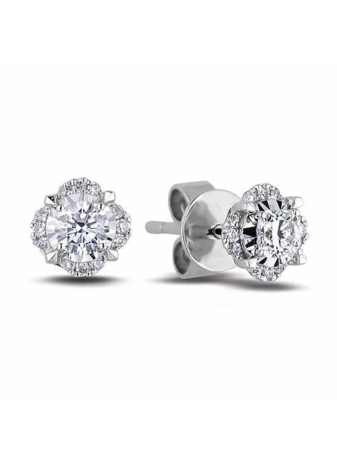 Boucle d'oreille 10k Fixe diamant 0.16ct SI2 GH