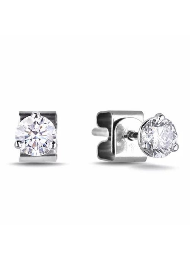 Boucle d'oreille 3 griffes 10k Diamant 0.40ct SI2 GH
