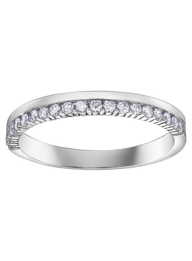 Semi-éternité 14k diamant 20=0.25ct I GH