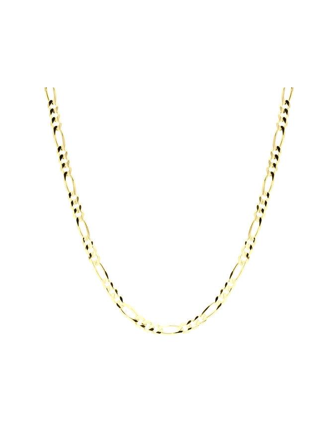 Bracelet 10k jaune 7'' figaro 3mm