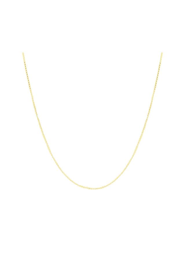 Chaîne 10k jaune 16'' wheat