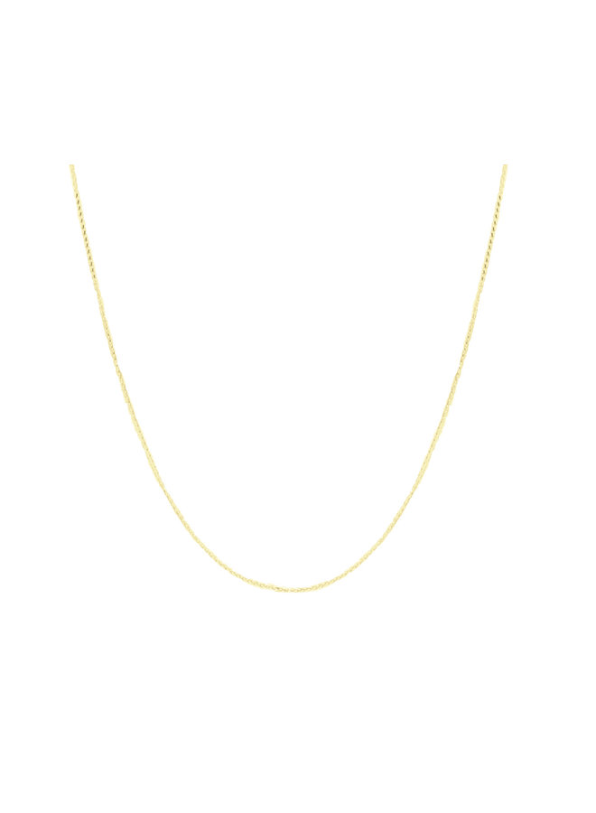 Bracelet 10k jaune 7'' Wheat