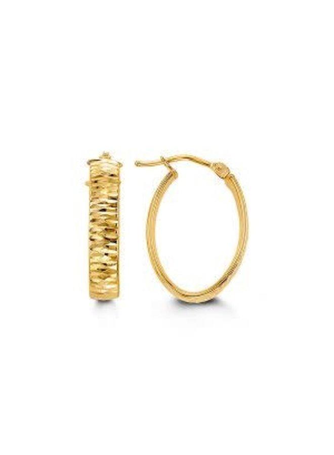 Boucle d'oreille anneau 10k ovale 15x20mm
