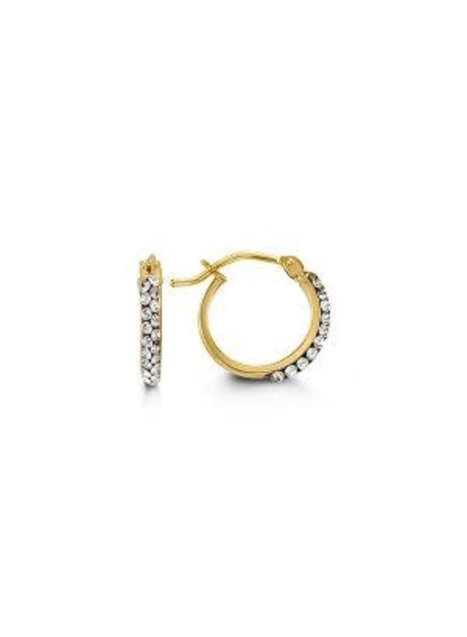 Boucle d'oreillle 10k jaune zircon