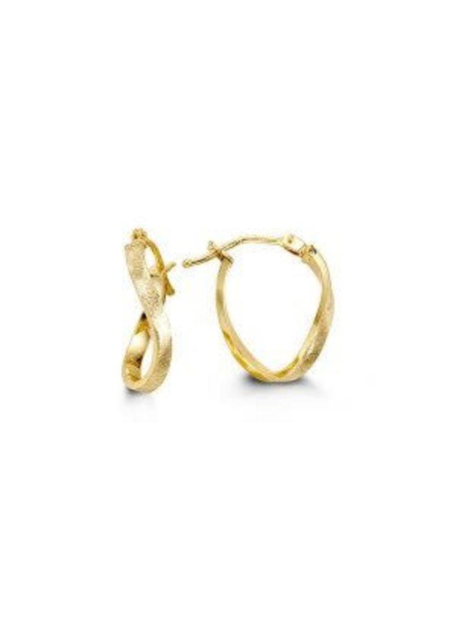 Boucle d'oreille anneau 10k jaune twist