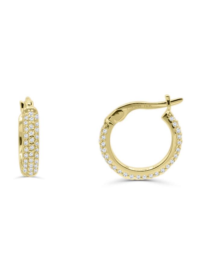 Boucle d'oreille anneau 15mm zircon