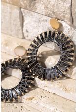 Faux Leather Wrap Earrings