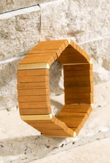 Stunning Geometric Wood Bracelet