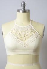 Crochet Lace High Neck Bralette