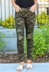 Distressed Camo Judy Blue Jeans