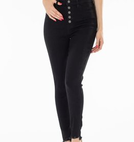 Black Button Fly KanCan Jeans