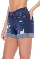 Judy Blue Dark Wash Cuffed Shorts