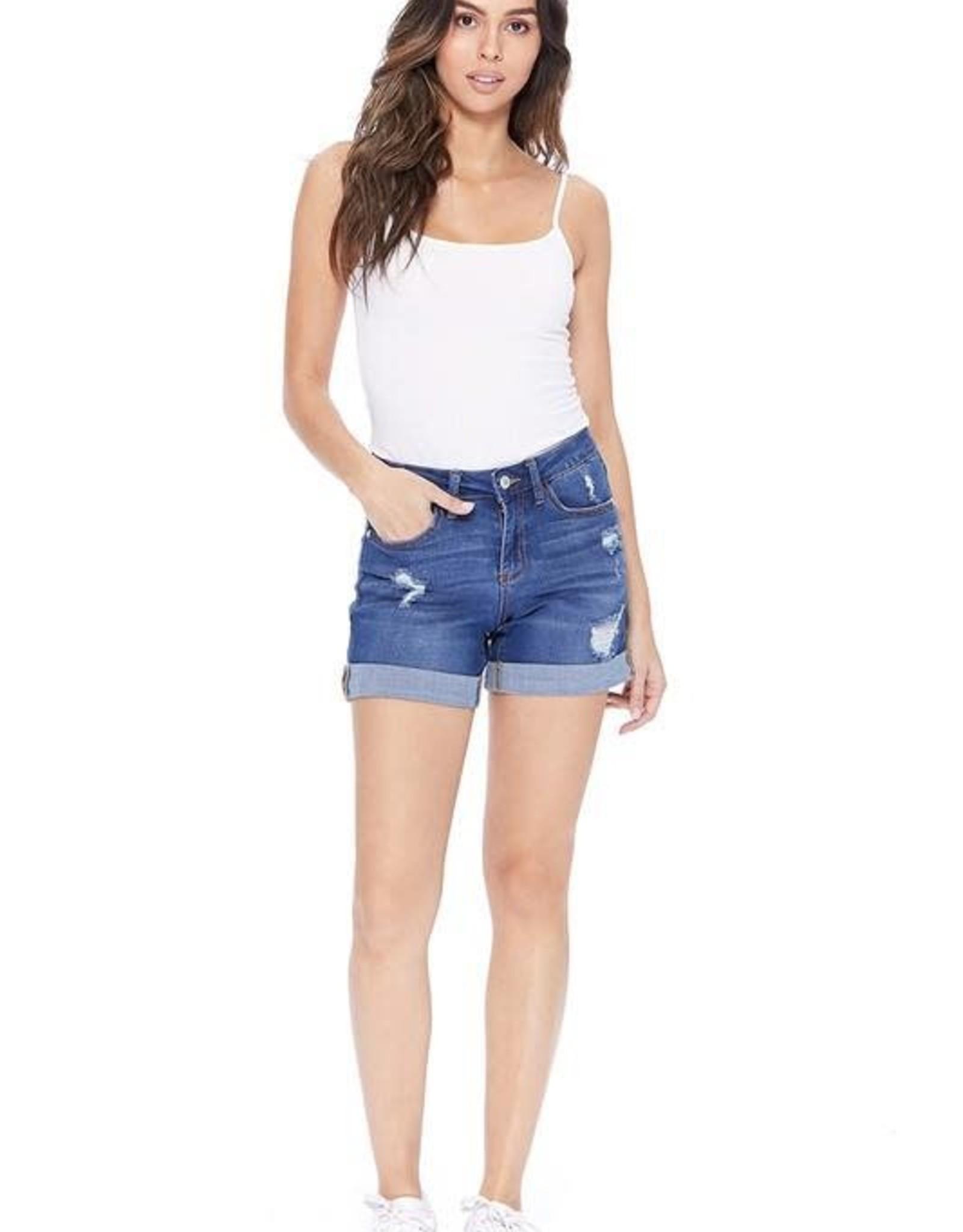 Judy Blue Medium Wash Cuffed Shorts