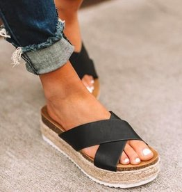 Matta Shoes Espadrille Croc Black Sandals