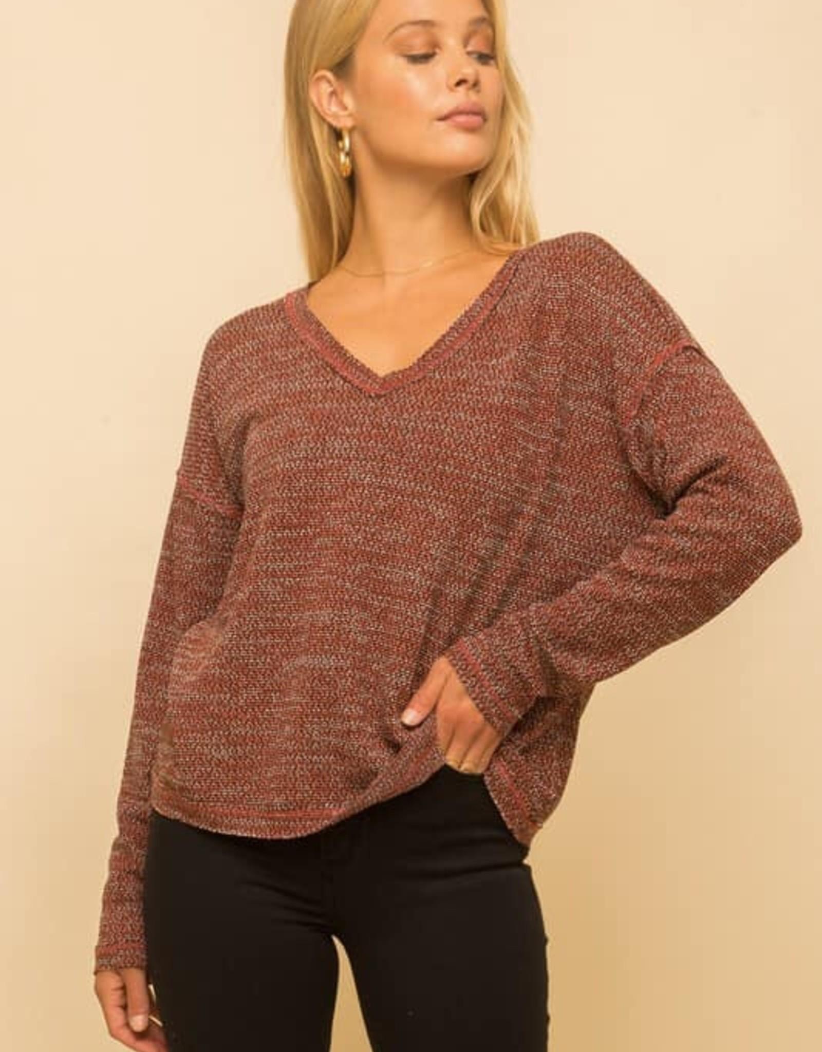 Two Tone Lightweight Sweater