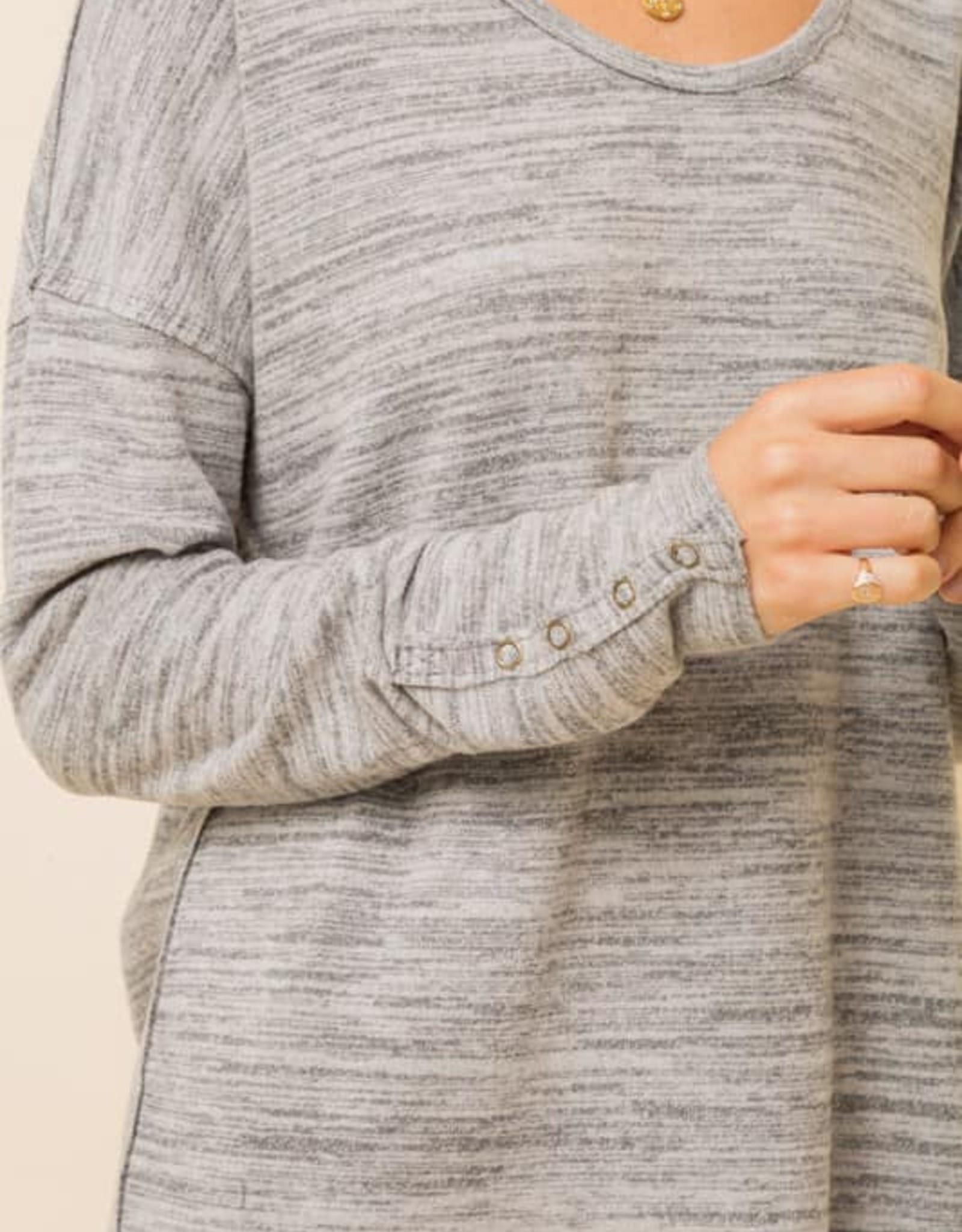 Melange Soft Brushed Dolman Top
