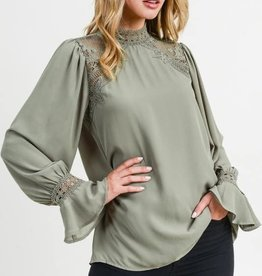 Solid Top with Mock Neckline