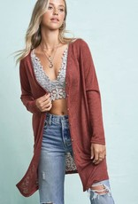 V-Neck Button Down Long Sleeve Cardigan